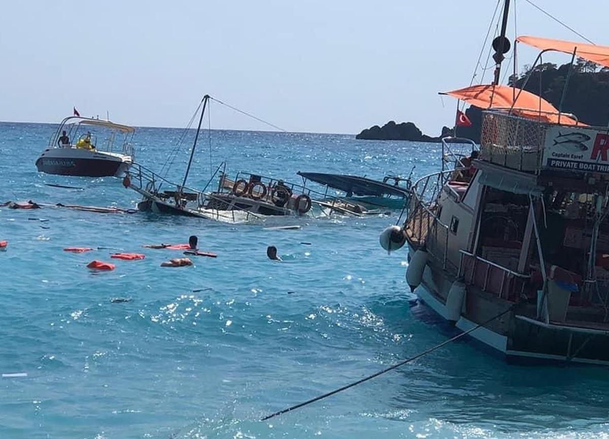 Fethiye'de batan tur teknesinde 4 kişi yaralandı