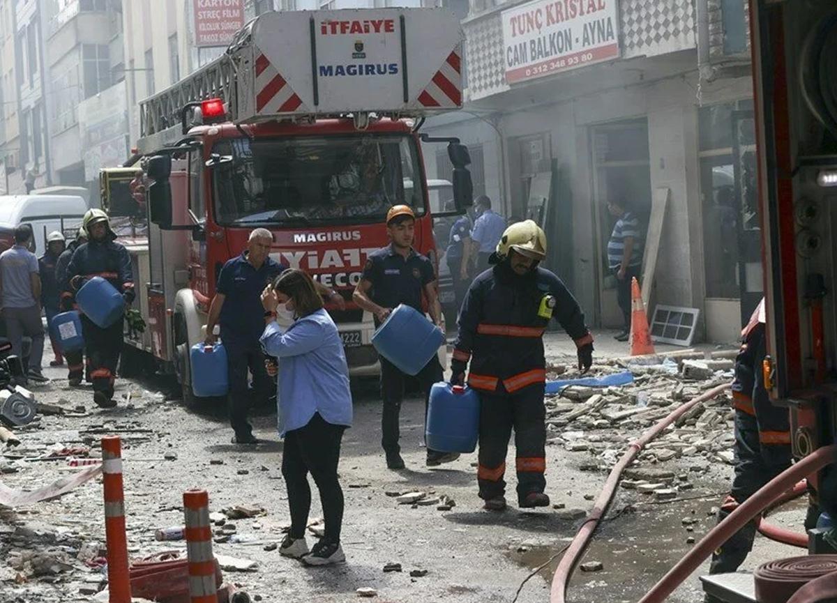 Ankara'da ambalaj imalathanesinde patlama: 2 kişi yaralandı