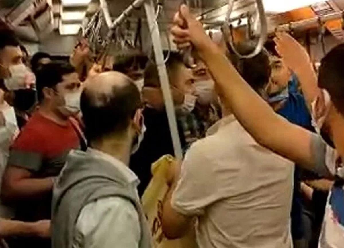 Metroda maske kavgası! Vatandaşlar araya girdi