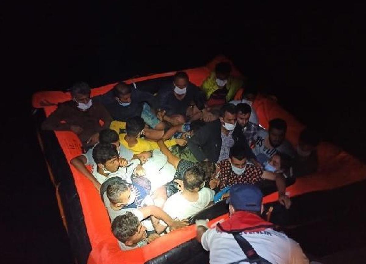 Bodrum açıklarında 37 düzensiz göçmen kurtarıldı!