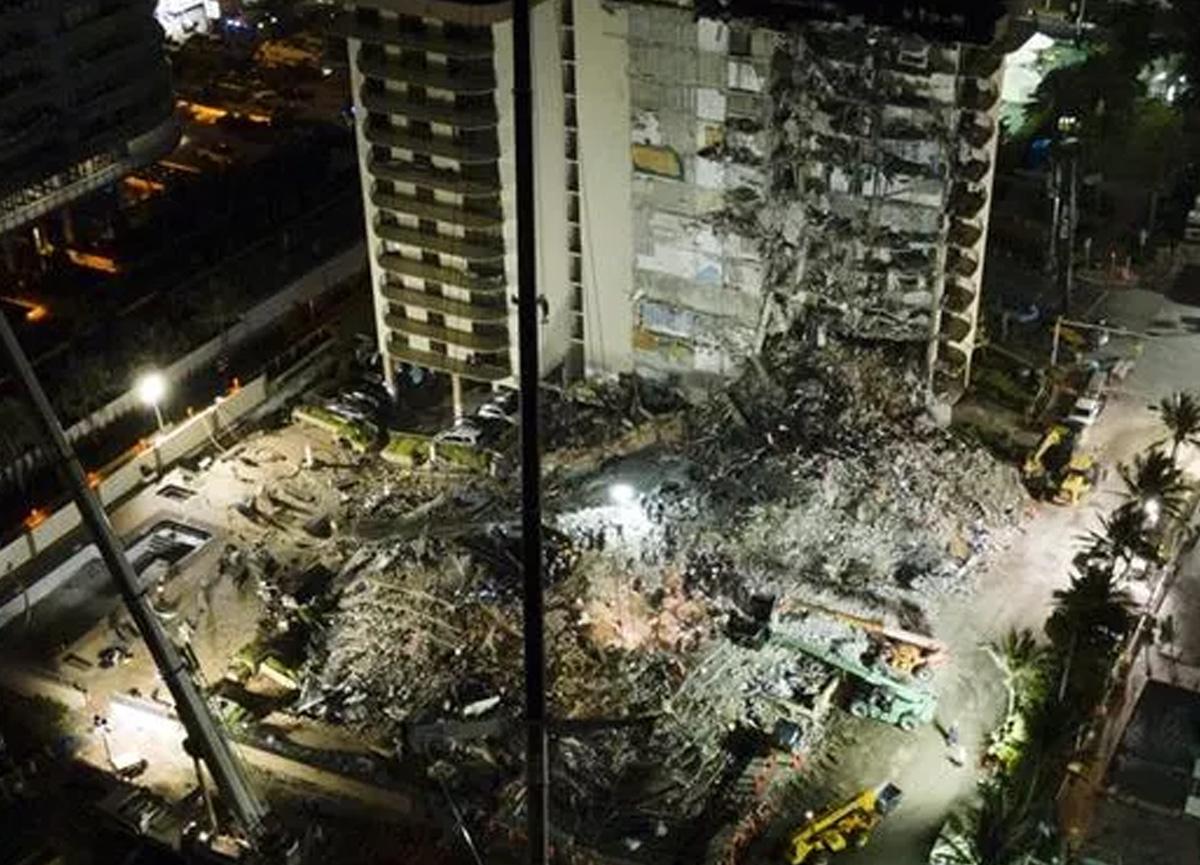 Miami'de bir kısmı çöken 13 katlı binada ölenlerin sayısı 32'ye yükseldi