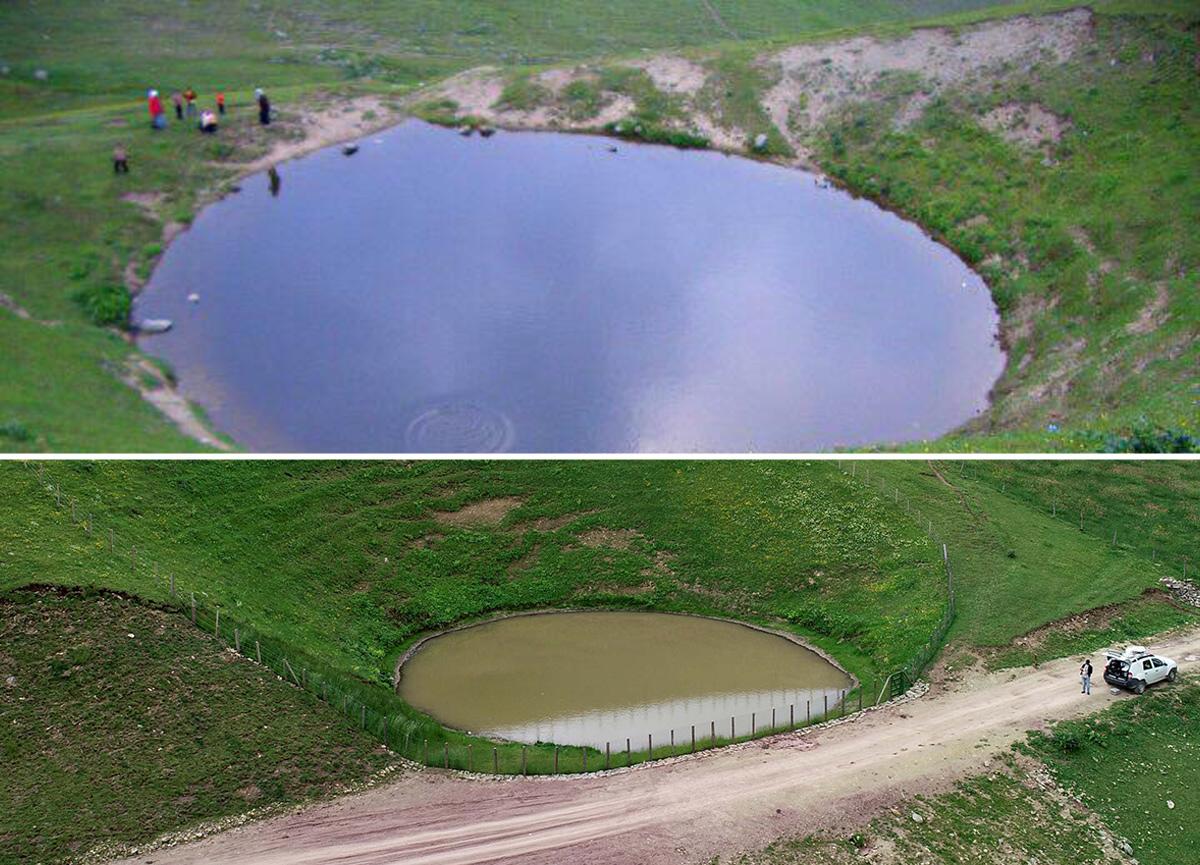 Dipsiz göl artık öldü: Buzul çağından kalan 12 bin yıllık doğa harikasının son hali içler acısı