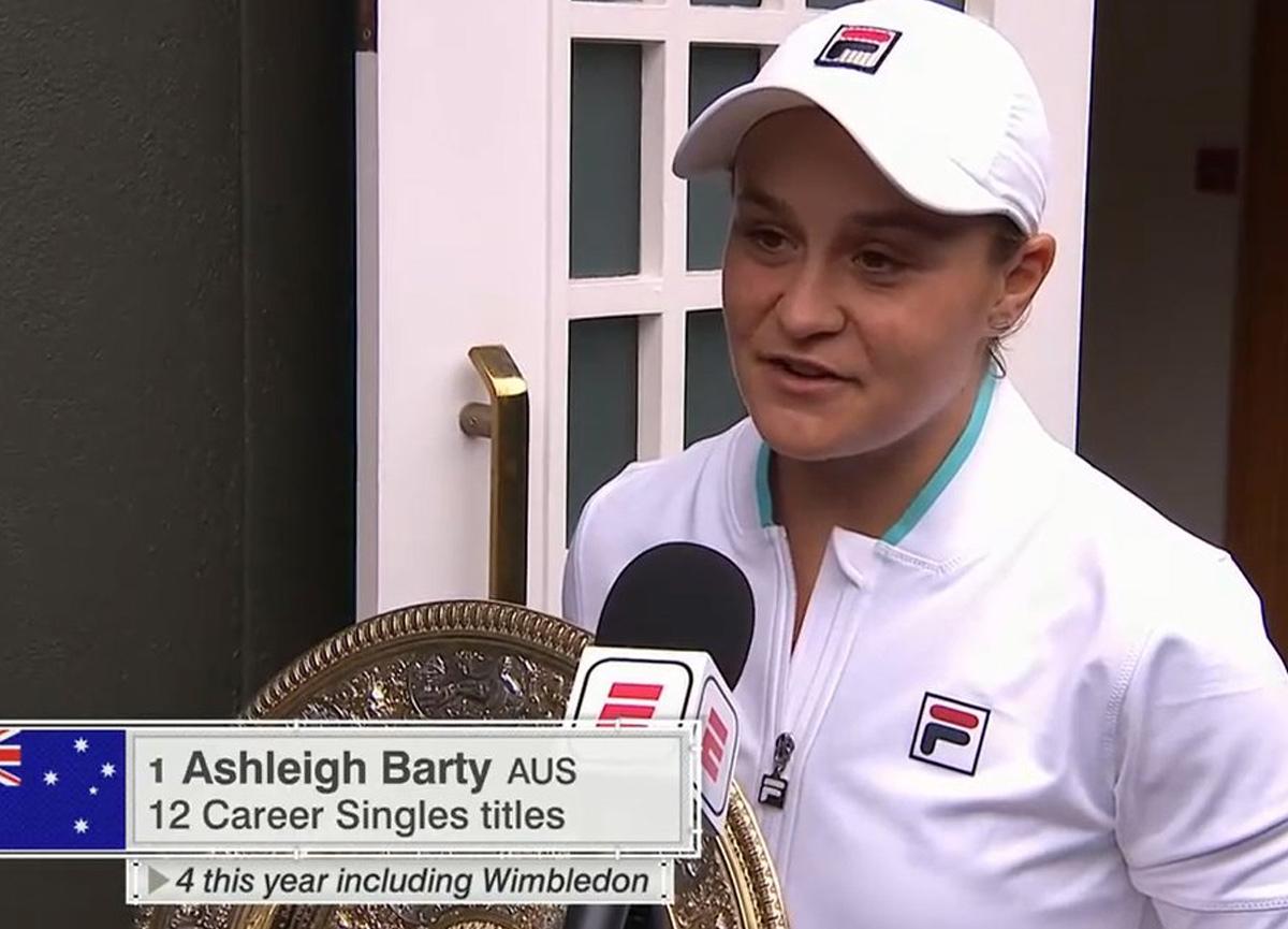 Wimbledon kadınlar finalinde şampiyon Ashleigh Barty oldu