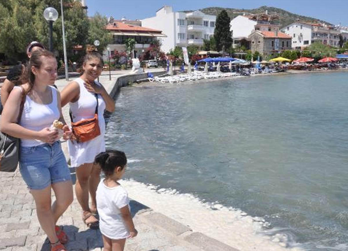 Turizm cenneti Datça'da korkutan görüntü!