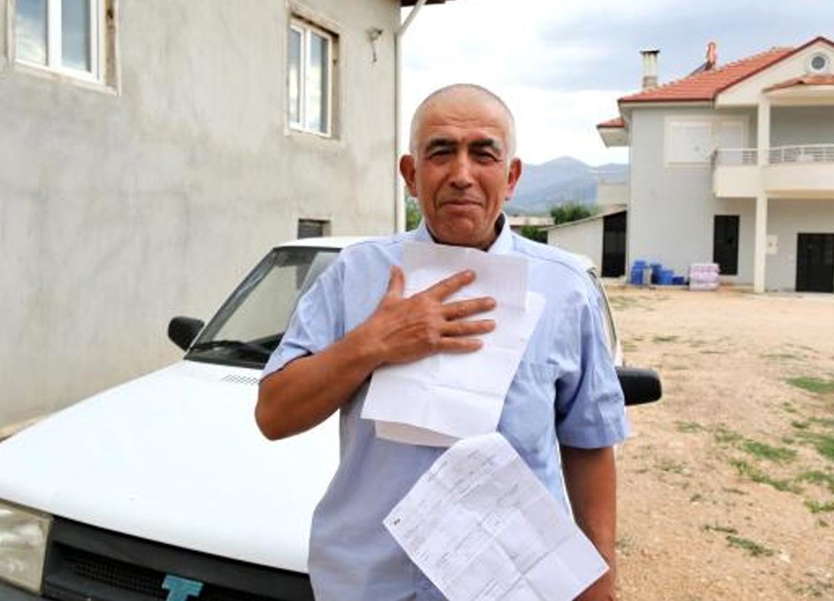 Antalyalı çiftçiye hiç gitmediği İstanbul'dan 20 tane trafik cezası geldi