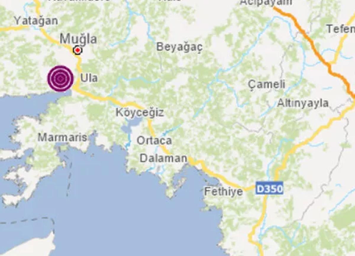 Muğla'da 3.5 büyüklüğünde deprem meydana geldi!