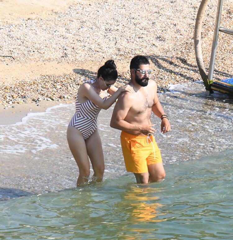 Fahriye Evcen'den tekne pozları