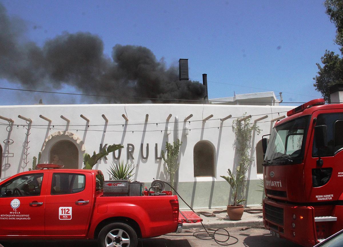 Diriliş Ertuğrul'un Ogeday'ına büyük şok! Bodrum'daki restoranında yangın çıktı