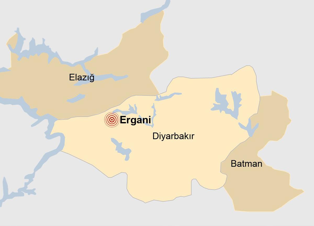 Diyarbakır'da 4 büyüklüğünde deprem!