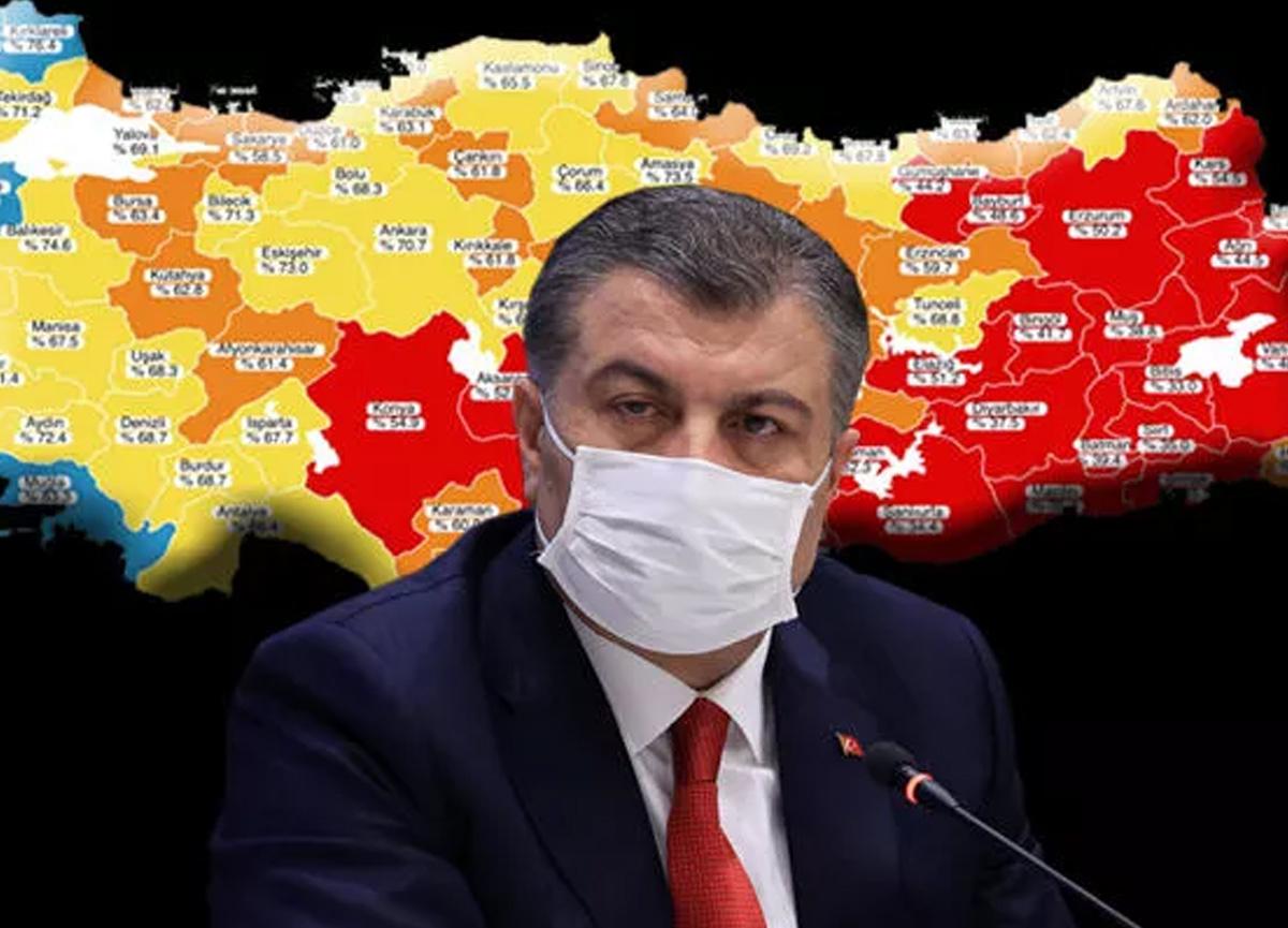 18 Temmuz 2021 Türkiye'de koronavirüs tablosu ve aşı haritası belli oldu