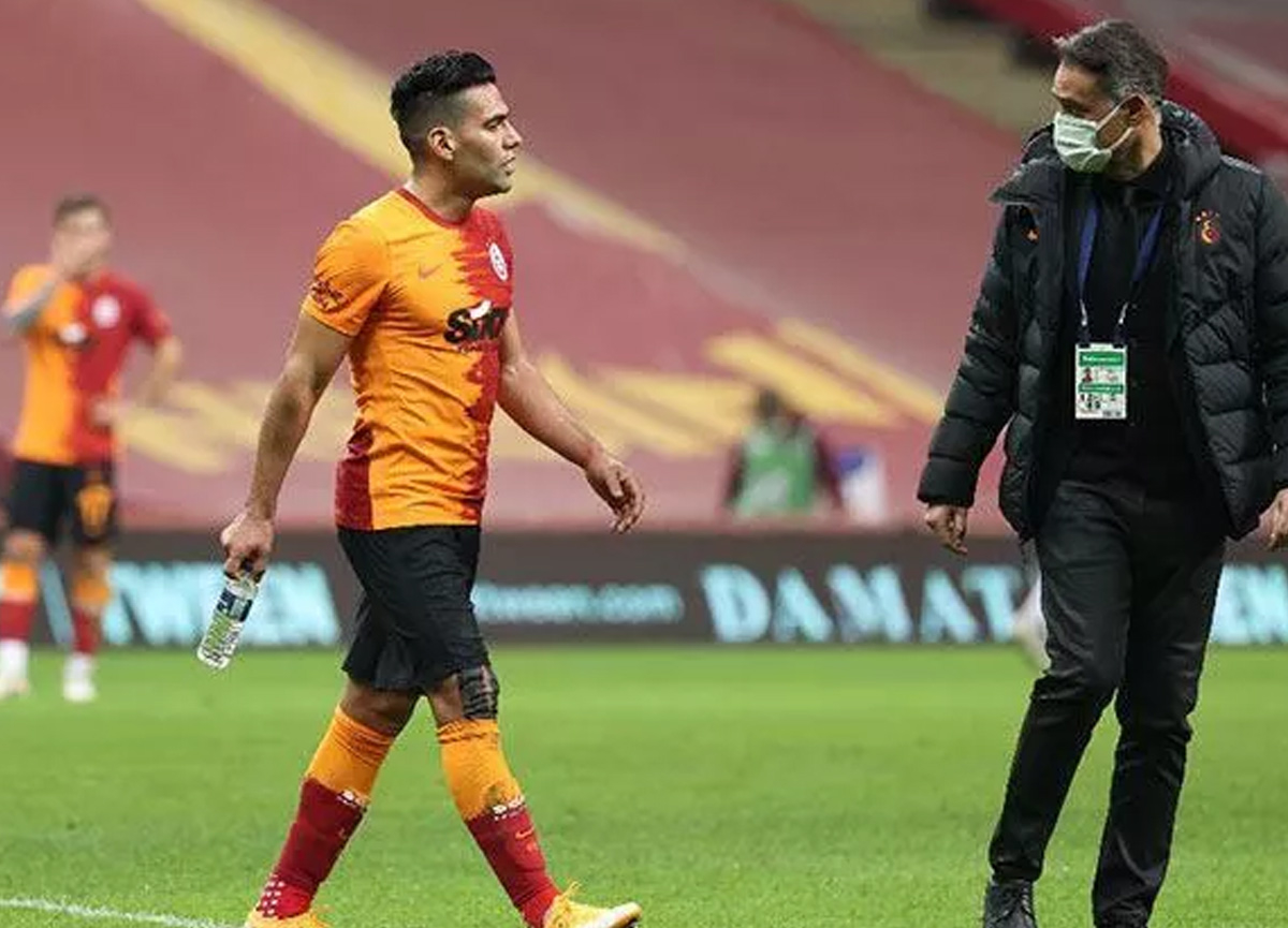 PSV maçı öncesi Galatasaray'da Falcao gelişmesi! İdmanda yer almadı