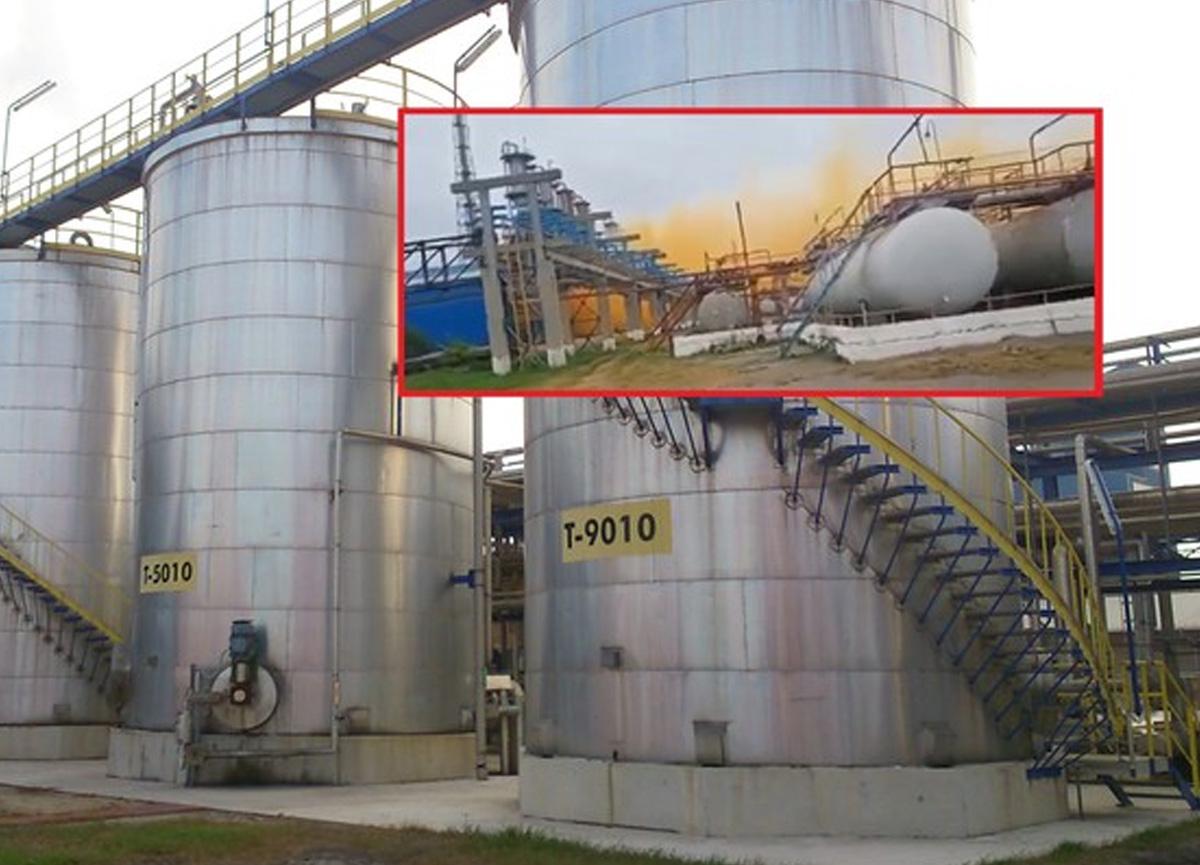 Ukrayna'da azot fabrikasında patlama