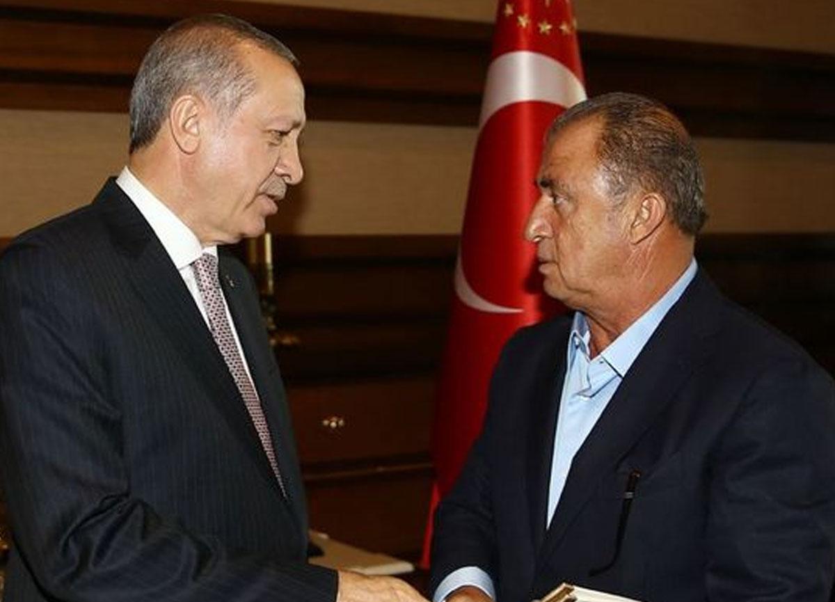 Cumhurbaşkanı Erdoğan, Burak Elmas ve Fatih Terim'le görüştü