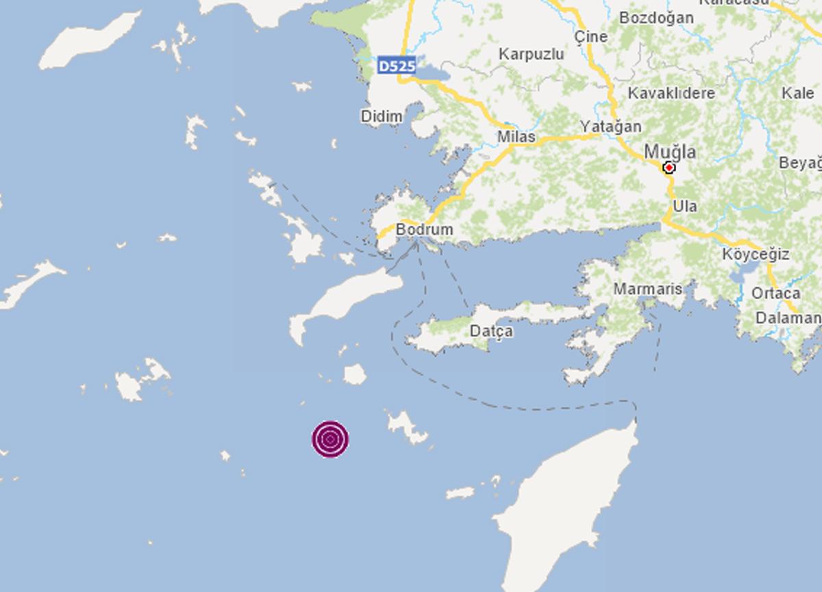 Son dakika: Datça açıklarında 4.6 büyüklüğünde korkutan deprem