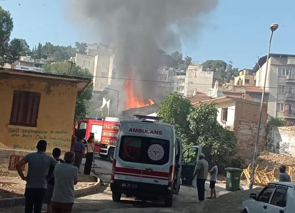 Aydın'da helyum gazı bomba gibi patladı! Mahalleli sokağa döküldü...