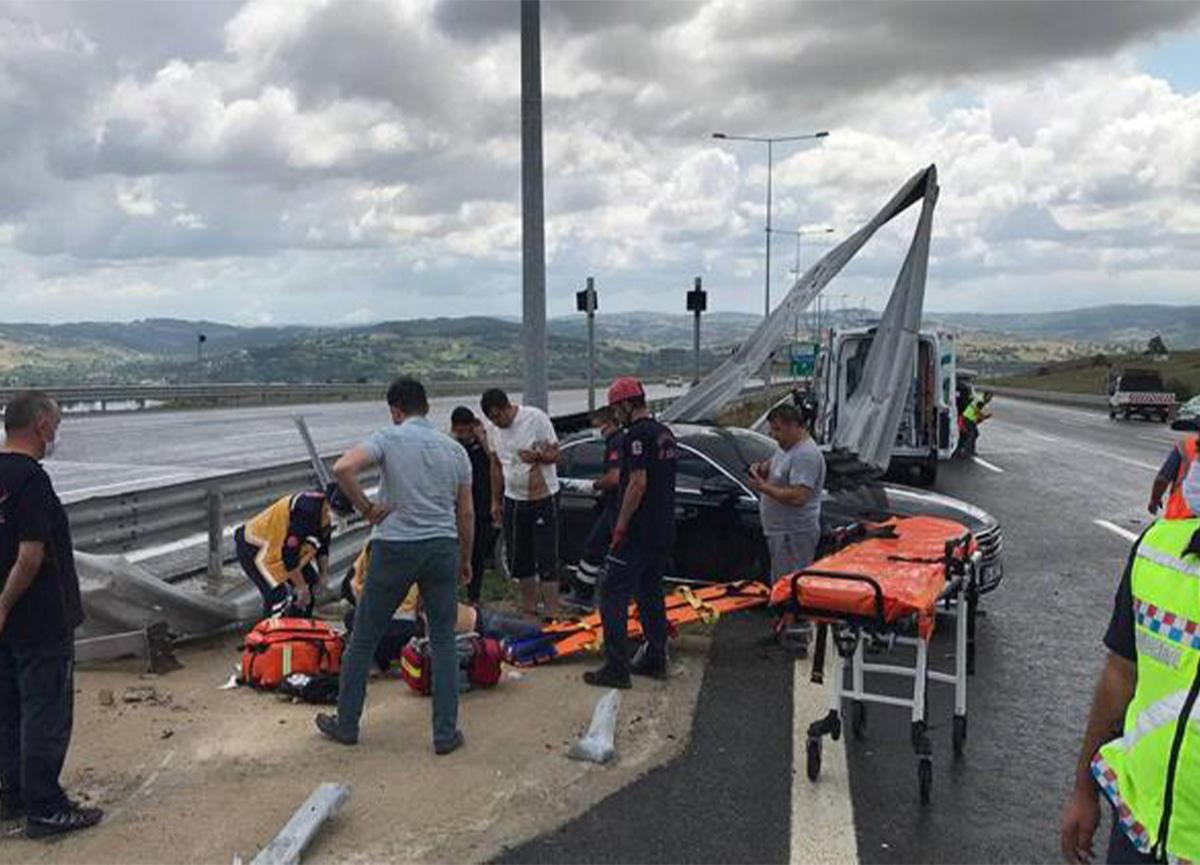 Kuzey Marmara Otoyolu'nda feci kaza! 1 ölü, 4 yaralı var