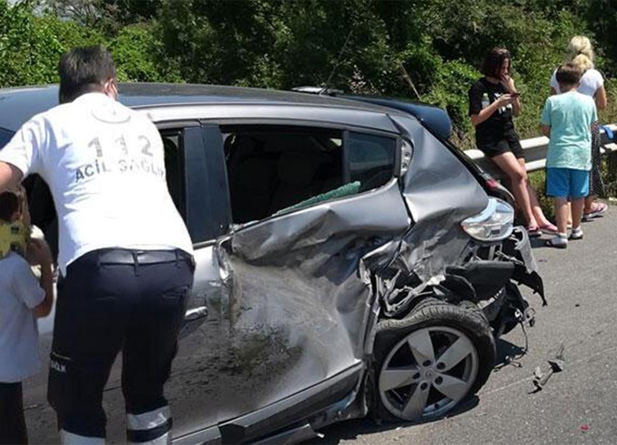 Düzce'de kaza! 6 yaralı var