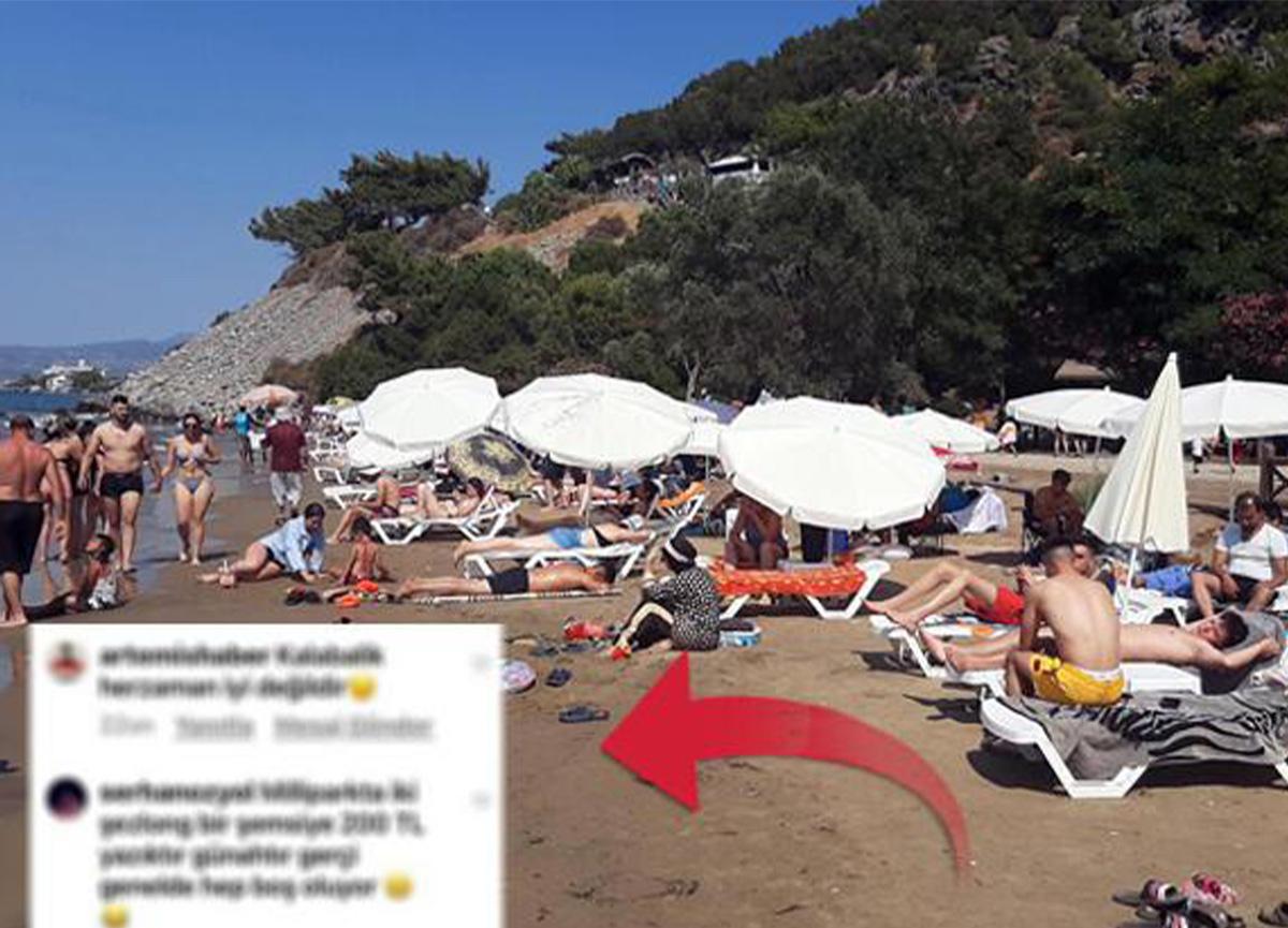 Kuşadası'nda tatilciler şemsiye ve şezlong fiyatlarına isyan etti!