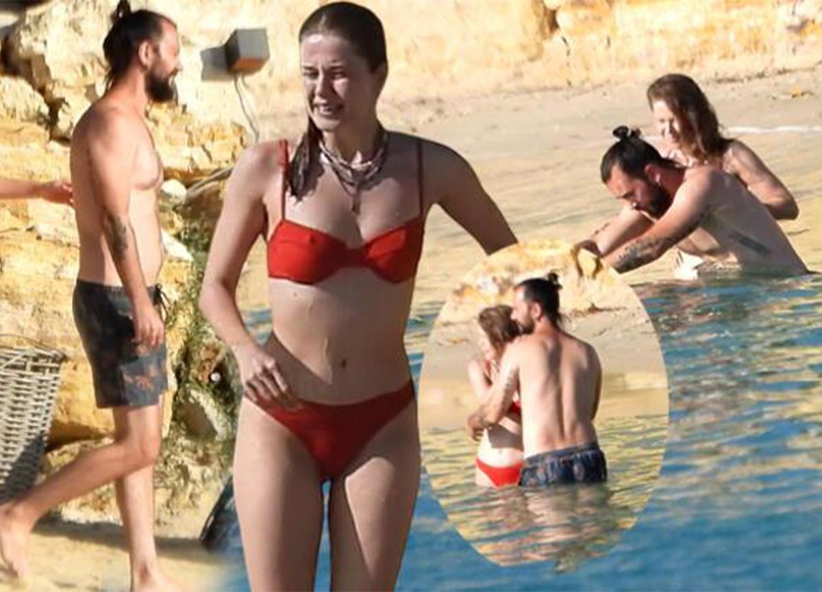 Burcu Biricik ile Emre Yetkin, baş başa yüzerken görüntülendi!