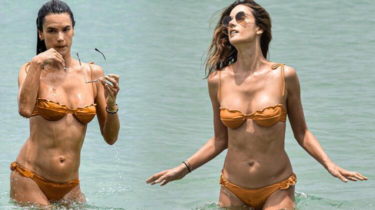 Alessandra Ambrosio tatil geleneğini bozmadı