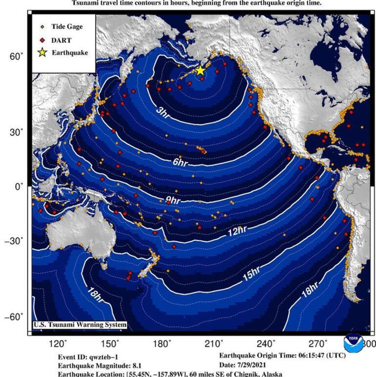 ABD'de 8.2 büyüklüğünde deprem! Tsunami alarımı verildi