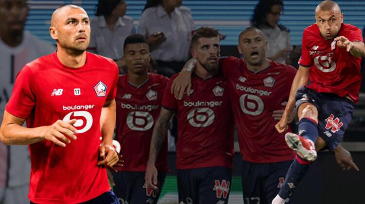 Lille - Paris Saint Germain maçına Burak Yılmaz damgası! Kral finali de boş geçmedi