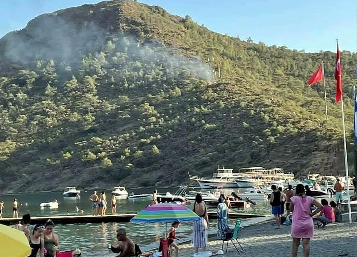 Datça'daki yangını çocukların torpil oyunu çıkarmış