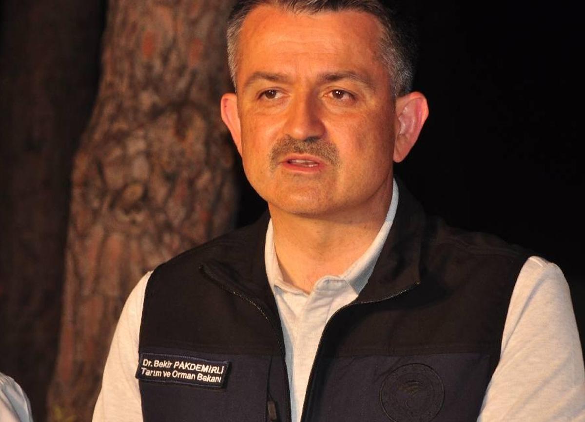 Tarım ve Orman Bakanı Bekir Pakdemirli açıkladı: Manavgat ve Gündoğmuş yangınları kontrol altına alındı