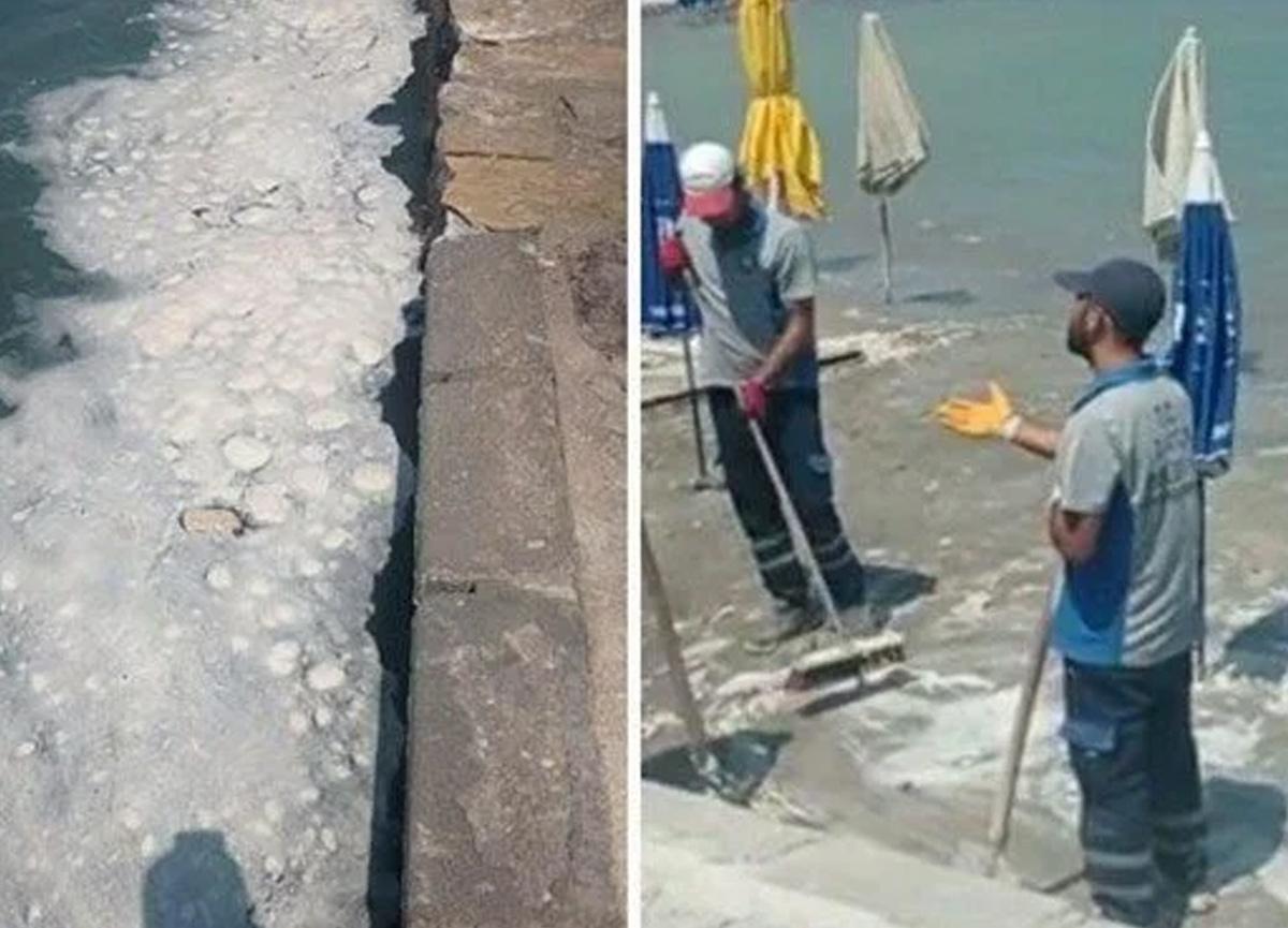 Datça sahilinde tedirgin eden görüntü: Tatilciler panikledi...