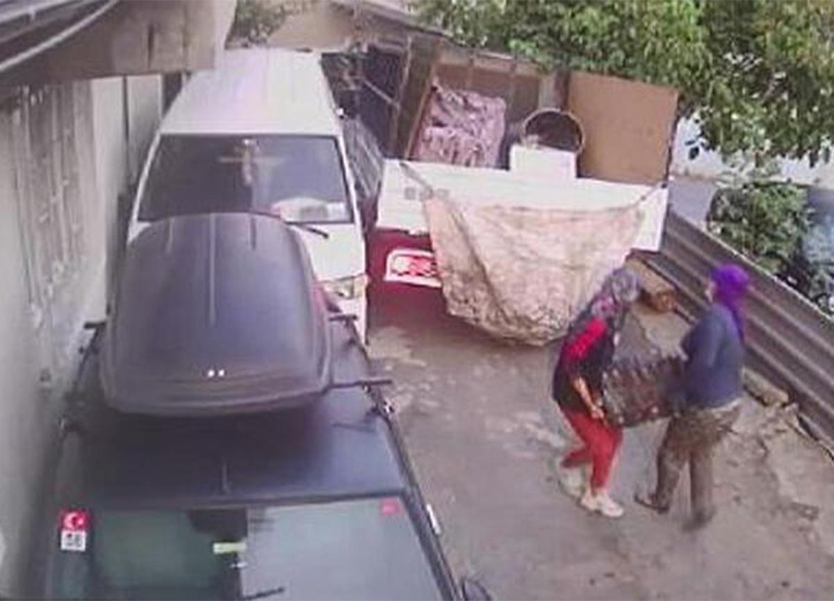 Akılalmaz olay! 2'si kadın 3 kişi otomobil motorunu çaldı