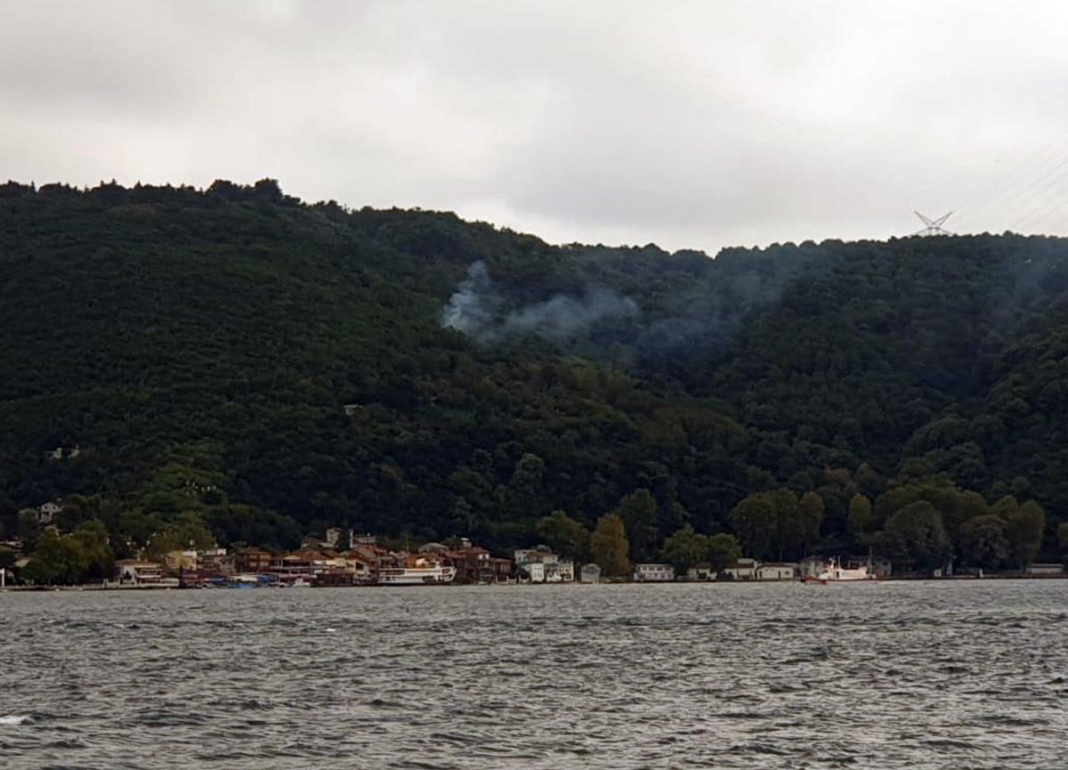 Beykoz'daki yangına kısa sürede mühadale edildi