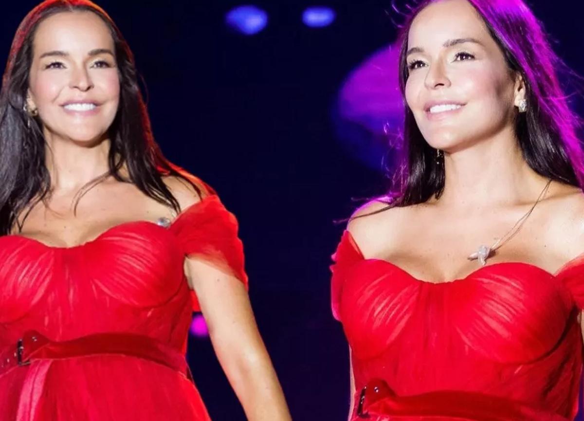 Bengü konserde giydiği kırmızı elbisesi ile övgü yağmuruna tutuldu