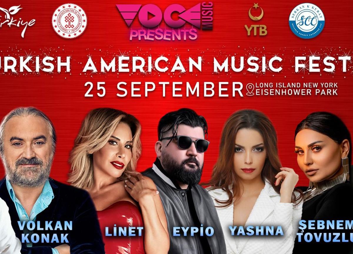 Amerika'da ilk kez gerçekleşecek olan Türk festivali Konserleri 25 Eylül'de...