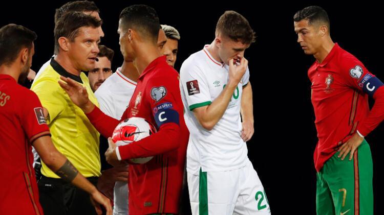 Cristiano Ronaldo geceye damga vurdu! Şok eden hareket, rakibine tokat attı