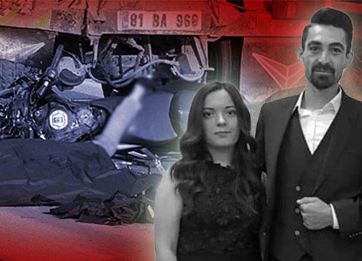 Düzce'de feci kaza! Evlilikleri 3 saat sürdü
