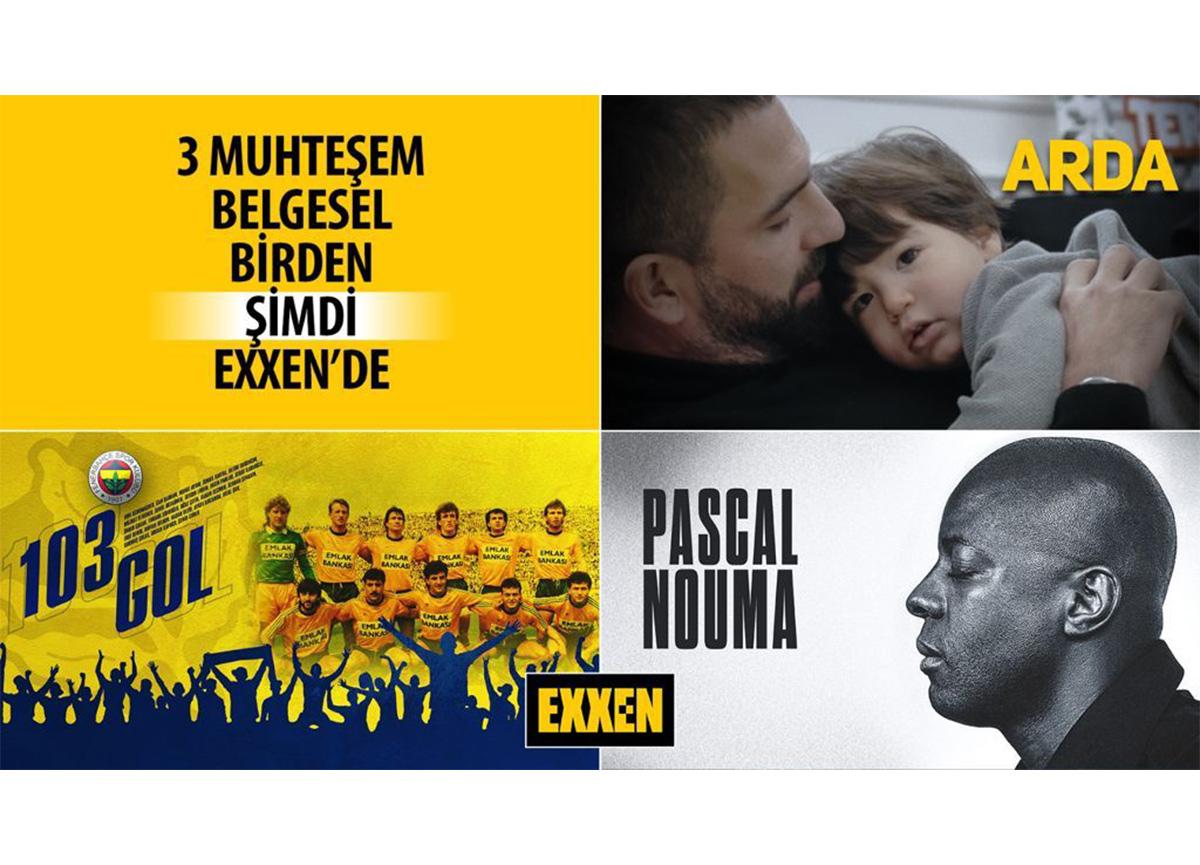 Yepyeni 3 muhteşem belgesel '103 Gol', 'Arda' ve 'Pascal Nouma' şimdi EXXEN'de!