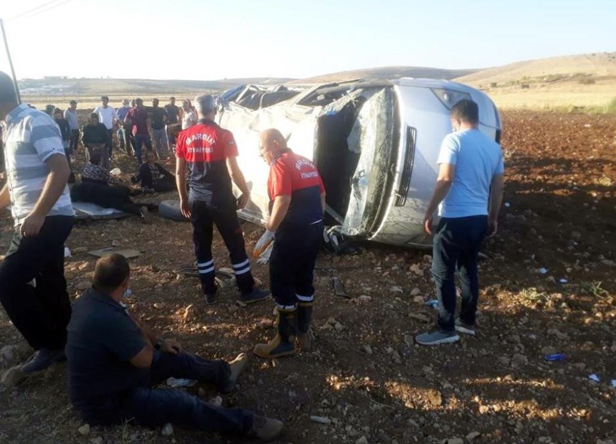 Mardin'deki trafik kazansında 10 kişi yaralandı