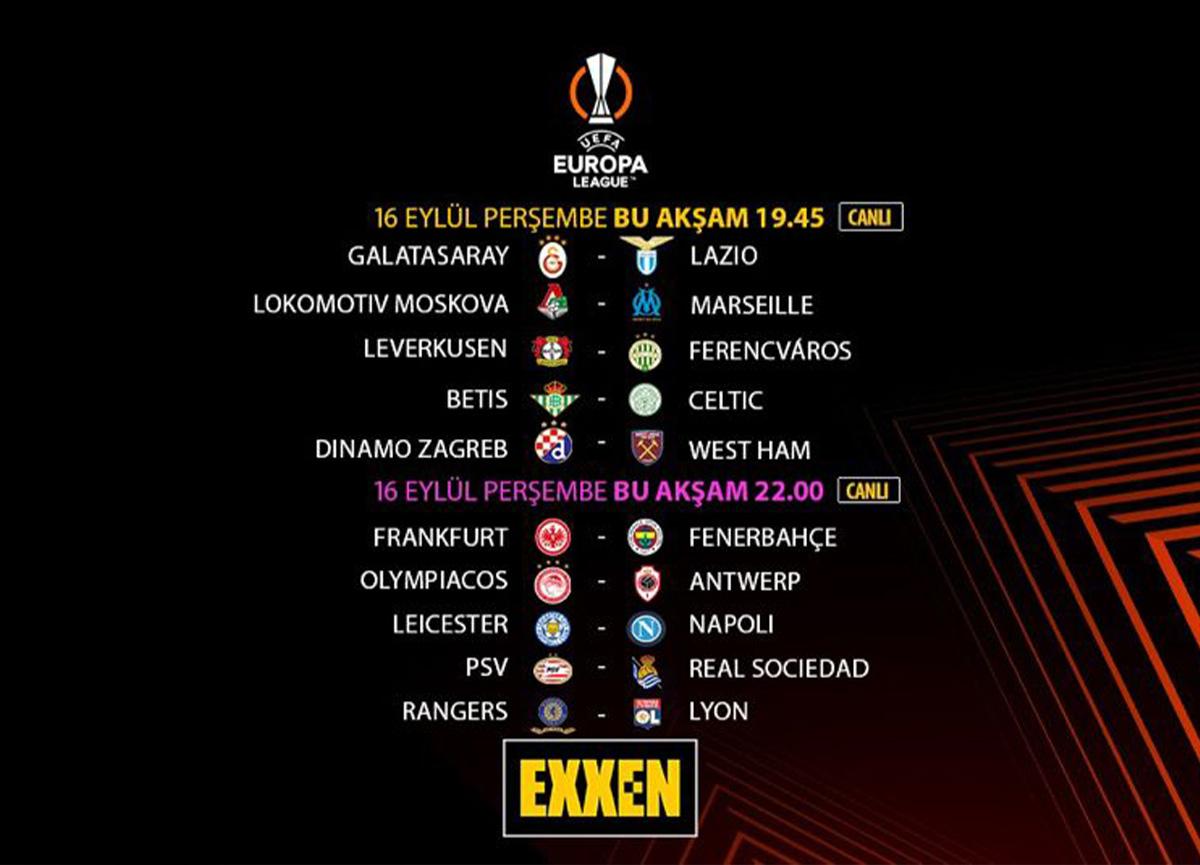 UEFA Avrupa Ligi grup maçları Exxen'de sizlerle buluşuyor!