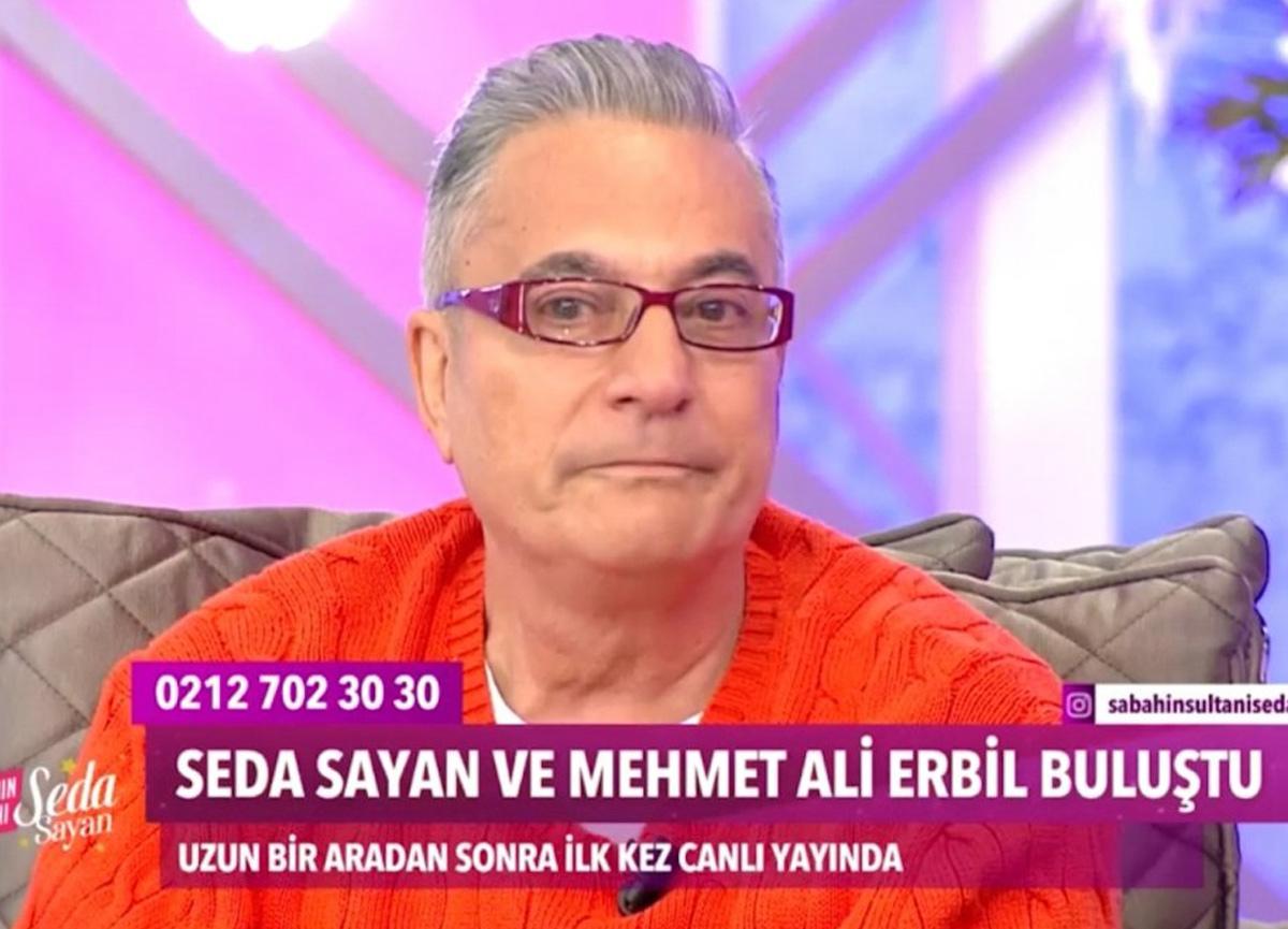 Bir hayranı, Seda Sayan'ın programına katılan Mehmet Ali Erbil'i ağlattı