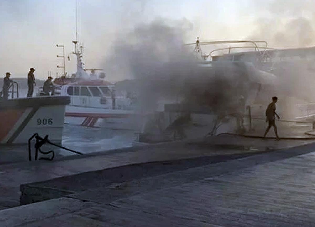 Bebek'te tekne yangını! Ekipler müdahale etti