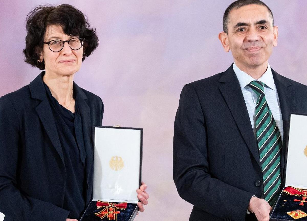 Özlem Türeci ve Uğur Şahin'e Almanya'da büyük ödül
