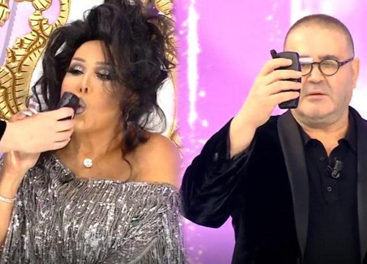 Şafak Sezer, canlı yayında Bülent Ersoy'a alkol testi yaptı!