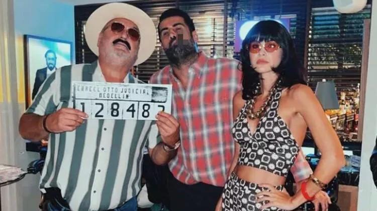 Çılgın doğum günü partisinde Volkan Demirel'in kıyafeti şaşırttı!