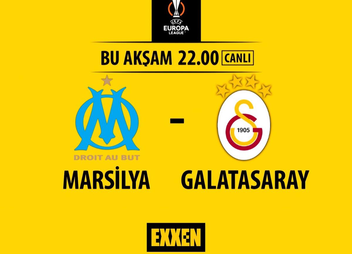 UEFA Avrupa Ligi'nde temsilcimiz Galatasaray ve Marsilya karşı karşıya geliyor!