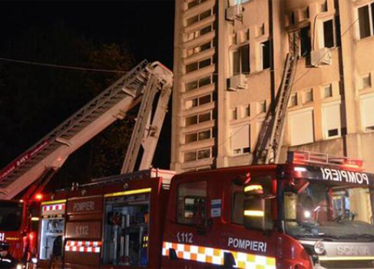 Son dakika: Romanya'da hastane yangını