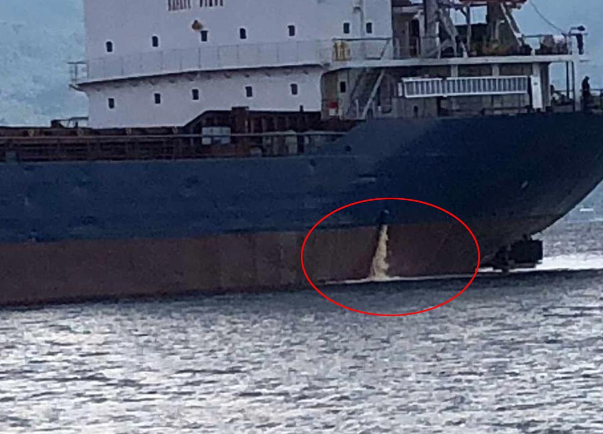 İzmit Körfezi'ni kirleten gemiye 1 milyon 804 bin TL ceza kesildi