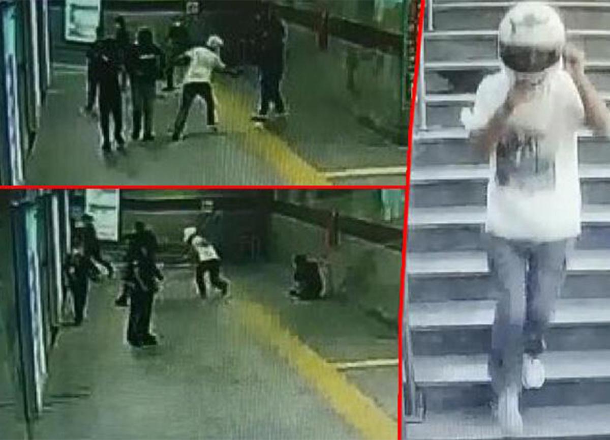Şişli'de metro girişinde korku dolu anlar! Kurşun yağdırdı