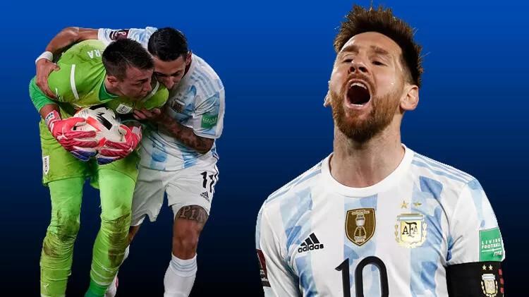 Arjantin-Uruguay maçında Muslera'dan akılalmaz hata! Messi'nin golü dünyada olay oldu