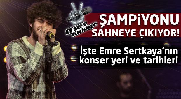 O Ses Türkiye şampiyonu Emre Sertkaya sevenleriyle buluşuyor!