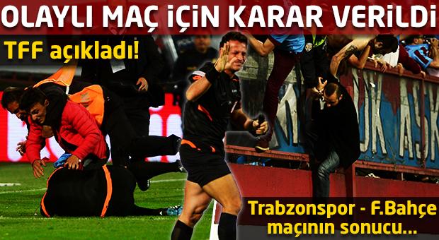 Trabzonspor - Fenerbahçe maçının sonucu...